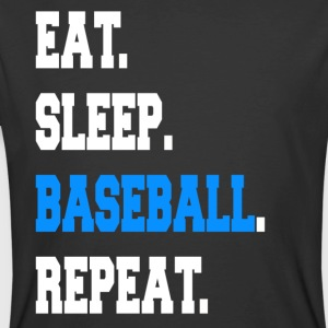 Funny Eat Sleep Baseball Repeat Sayings Apparel - Men's 50/50 T-Shirt