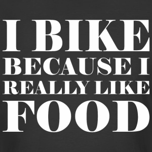 I Bike Because I Really Like Food - Men's 50/50 T-Shirt