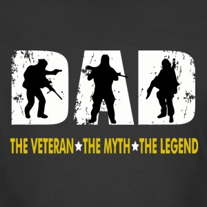 Dad The Man The Myth The Legend for Veterans Fathe - Men's 50/50 T-Shirt