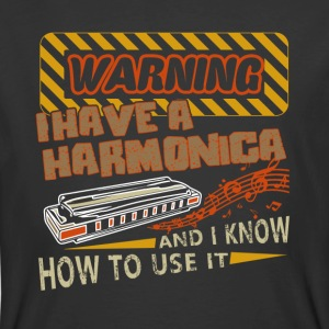 Warning I Have A Harmonica Shirts - Men's 50/50 T-Shirt