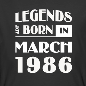 Legends are born in March 1986 - Men's 50/50 T-Shirt