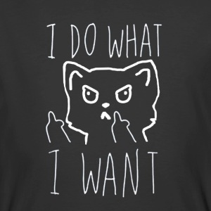 I Do What I Want Cat T-shirt - Men's 50/50 T-Shirt