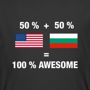 Half Bulgarian Half American 100% Awesome Flag Bul - Men's 50/50 T-Shirt