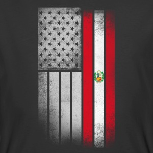 Peruvian American Flag - Men's 50/50 T-Shirt