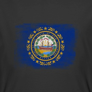 New Hampshire State Flag Distressed Vintage - Men's 50/50 T-Shirt