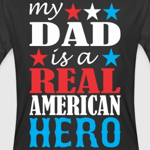 My Dad Is A Real American Hero - Men's 50/50 T-Shirt