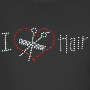 I Love Hair Rhinestone - Men's 50/50 T-Shirt