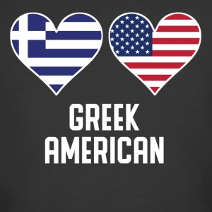 Greek American Heart Flags - Men's 50/50 T-Shirt