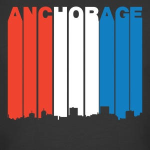 Red White And Blue Anchorage Alaska Skyline - Men's 50/50 T-Shirt