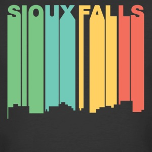 Retro 1970's Style Sioux Falls SD Skyline - Men's 50/50 T-Shirt