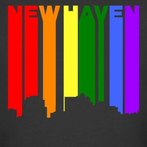 New Haven Connecticut Gay Pride Rainbow Skyline - Men's 50/50 T-Shirt