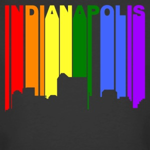 Indianapolis Indiana Gay Pride Rainbow Skyline - Men's 50/50 T-Shirt