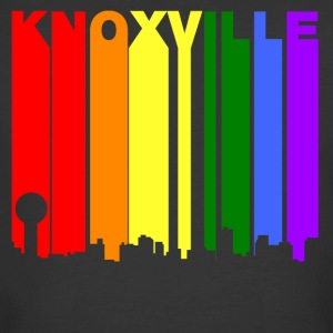 Knoxville Tennessee Gay Pride Rainbow Skyline - Men's 50/50 T-Shirt