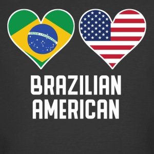 Brazilian American Heart Flags - Men's 50/50 T-Shirt