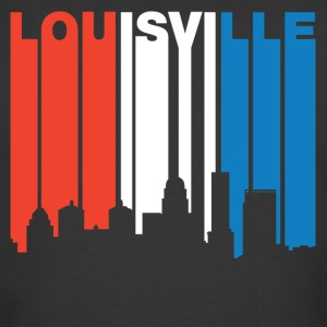 Red White And Blue Louisville Kentucky Skyline - Men's 50/50 T-Shirt