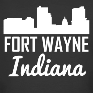 Fort Wayne Indiana Skyline - Men's 50/50 T-Shirt