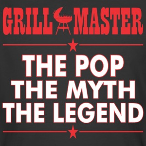 Grillmaster The Pop The Myth The Legend BBQ - Men's 50/50 T-Shirt