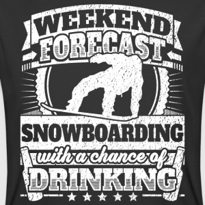 Weekend Forecast Snowboarding Drinking Tee - Men's 50/50 T-Shirt