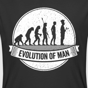 Funny Chef: Graphic Cook Evolution Cooking Shirt - Men's 50/50 T-Shirt