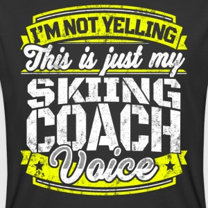 Funny Skiing coach: My Skiing Coach Voice - Men's 50/50 T-Shirt