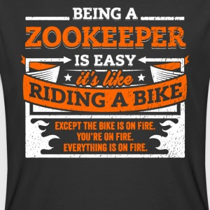 Zookeeper Shirt: Being A Zookeeper Is Easy - Men's 50/50 T-Shirt
