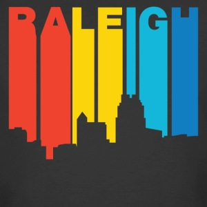 Retro 1970's Style Raleigh North Carolina Skyline - Men's 50/50 T-Shirt