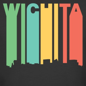 Retro 1970's Style Wichita Kansas Skyline - Men's 50/50 T-Shirt