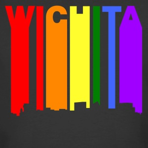 Wichita Kansas Gay Pride Rainbow Skyline - Men's 50/50 T-Shirt