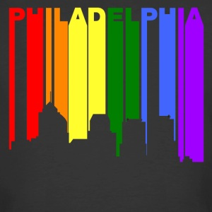 Philadelphia Pennsylvania Gay Pride Skyline - Men's 50/50 T-Shirt