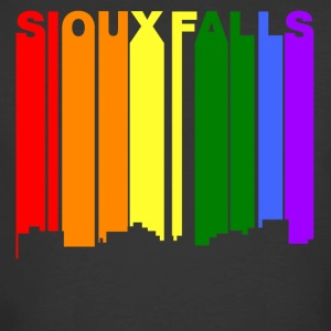 Sioux Falls South Dakota Gay Pride Skyline - Men's 50/50 T-Shirt