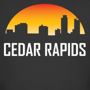 Cedar Rapids Iowa Sunset Skyline - Men's 50/50 T-Shirt