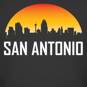 San Antonio Texas Sunset Skyline - Men's 50/50 T-Shirt
