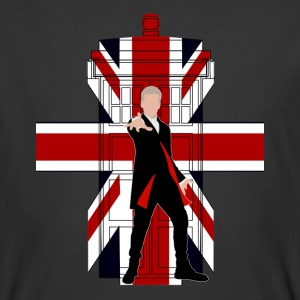 Union Jack British Flag with Doctor - Men's 50/50 T-Shirt