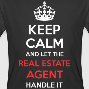 Keep Calm And Let Real Estate Agent Handle It - Men's 50/50 T-Shirt