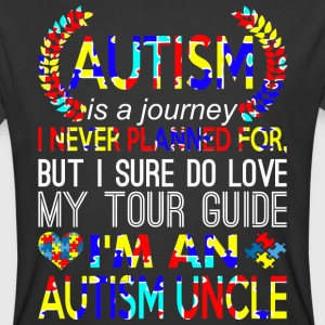 Autism Is Journey Never Planned Im An Autism Uncle - Men's 50/50 T-Shirt