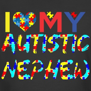 I Love My Autistic Nephew Awareness - Men's 50/50 T-Shirt