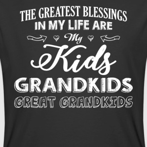 My Life Are My Kids Grandkids T Shirt - Men's 50/50 T-Shirt