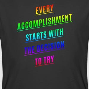 Every accomplishment starts with the decision - Men's 50/50 T-Shirt