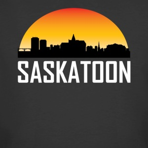 Sunset Skyline Silhouette of Saskatoon SK - Men's 50/50 T-Shirt