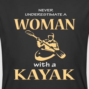 Never Underestimate A Woman With A Kayak T Shirt - Men's 50/50 T-Shirt