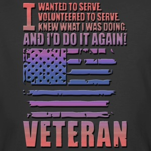 Best Veteran I WANTED TO SERVE - Men's 50/50 T-Shirt