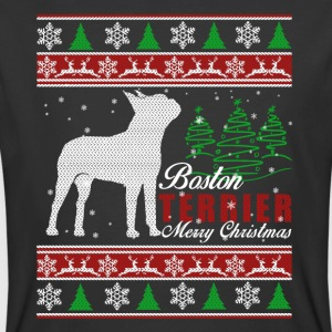Boston Terrier Christmas Shirt - Men's 50/50 T-Shirt
