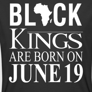 Black Kings Born on June 19 - Men's 50/50 T-Shirt