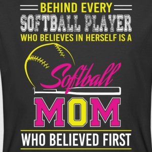 Believes In Herself Is A Softball Mom T Shirt - Men's 50/50 T-Shirt