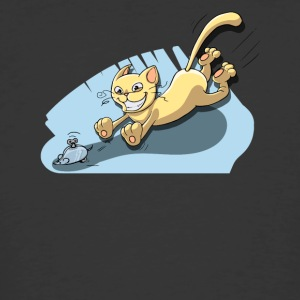 Cat Running After Rat - Tom and Jerry Illustration - Men's 50/50 T-Shirt