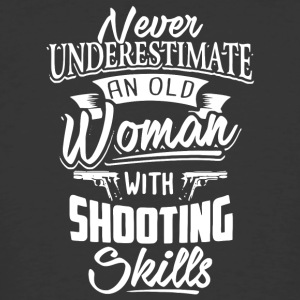 An Old Woman With Shooting Skills T Shirt - Men's 50/50 T-Shirt