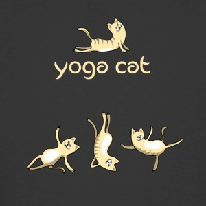 yoga Cat namaste shiva woman fun buddha cute humor - Men's 50/50 T-Shirt