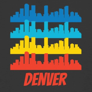 Retro Denver CO Skyline Pop Art - Men's 50/50 T-Shirt