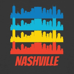 Retro Nashville TN Skyline Pop Art - Men's 50/50 T-Shirt