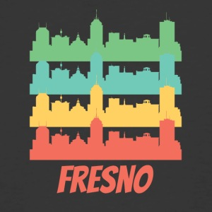 Retro Fresno CA Skyline Pop Art - Men's 50/50 T-Shirt